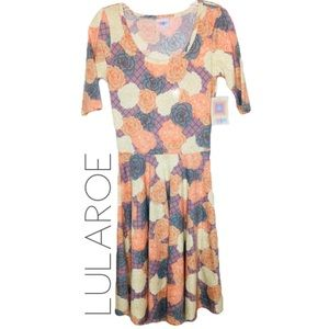 NWT LuLaRoe floral Nicole circle dress XS 0002